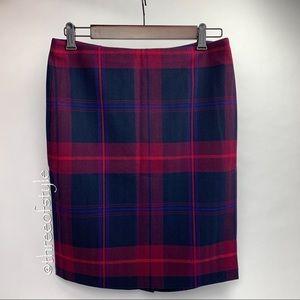 Tommy Hilfiger Plaid Pencil Skirt Size 4